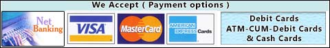 web accept (credit/debit cards, internet banking, atm-cum-debit cards)